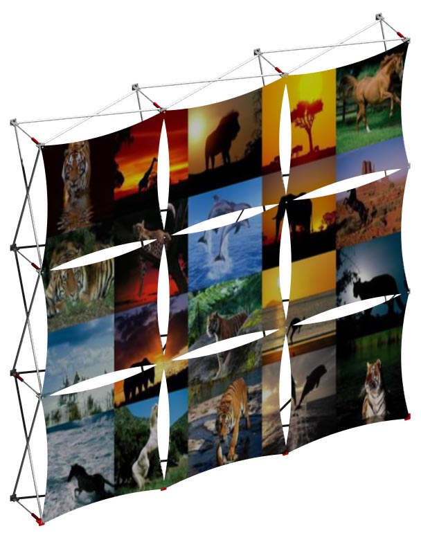 Stretch Fabric Exhibition Stands : Stretch fabric trade show displays